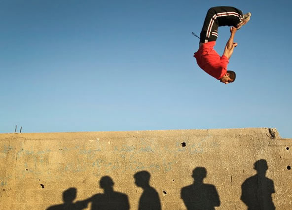 Parkour In War torn Gaza