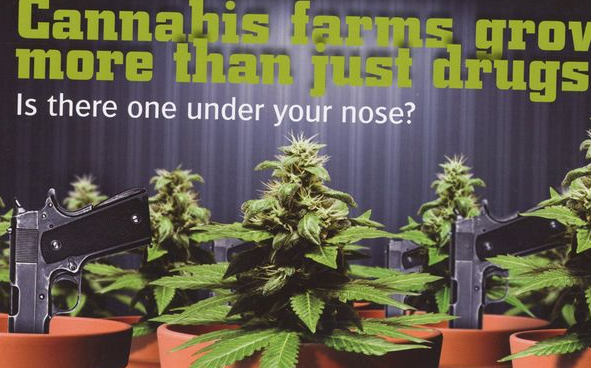 Cops Handout &#8220;Scratch and sniff&#8221; Cannabis Cards