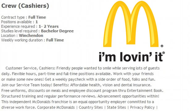 the advantages for the franchisor at mcdonalds marketing essay Mcdonalds essay - download as word doc (doc / docx), pdf file (pdf), text file (txt) or read online scribd is the world's largest social reading and publishing site search search.