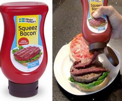 Liquid Bacon That Can Be Squeezed