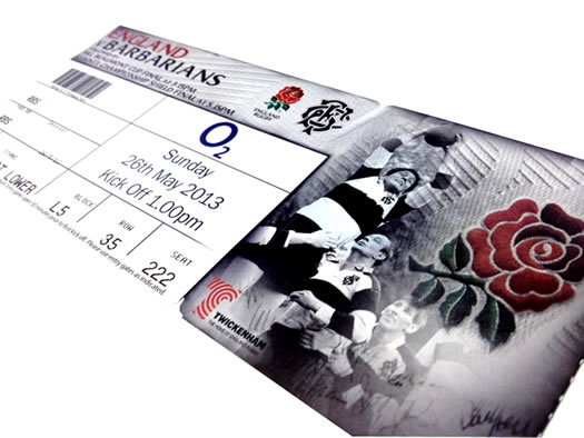Win a pair of tickets to the England Vs Barbarians game