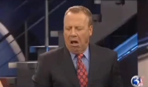 Weatherman Accidentally Eats Cat Vomit Live On TV