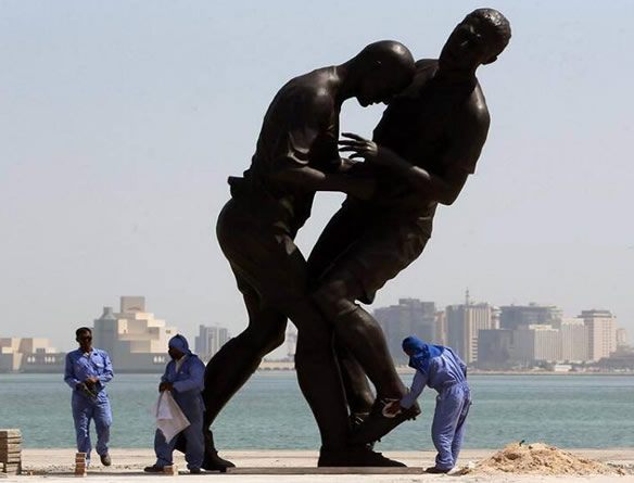 Qatar Bought A 15ft Statue Of Zidane Head-Butting Materazzi