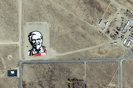 KFC's New Face Seen From Space (Video)