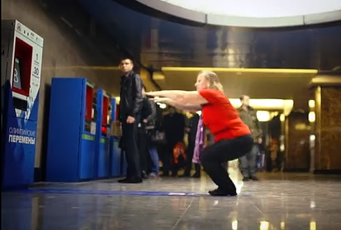 Russian Subway Now Accepts 30 Squats As Payment