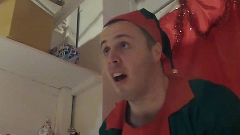 Christmas Elf High On A Variety Of Drugs