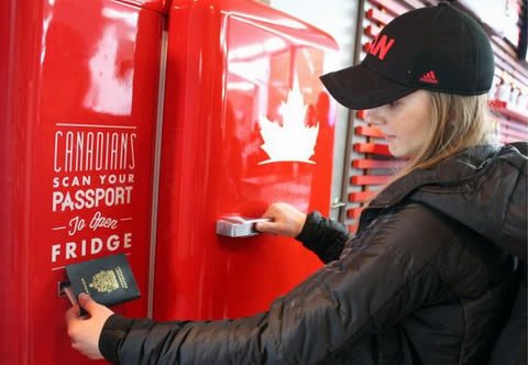 Team Canada's Beer Fridge Only Opens If You're Canadian
