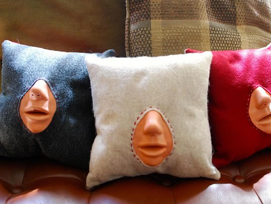 Make-Out Practice Pillow for Valentine's Day