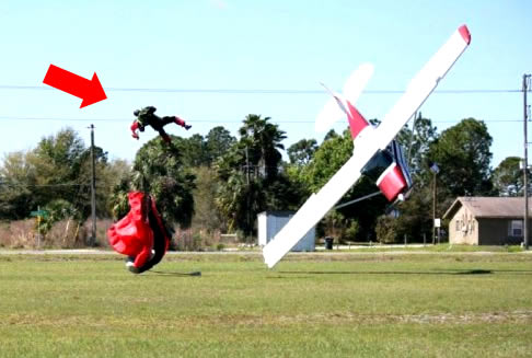 Plane Crashes Into Skydiver: Who wins?