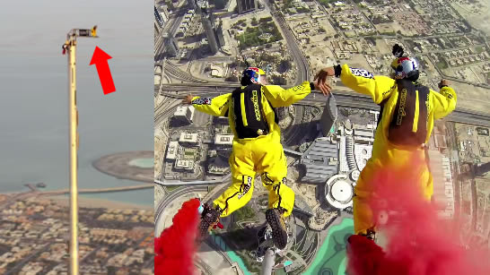 This Is What A Base Jump Looks Like Off The Worlds Tallest Building