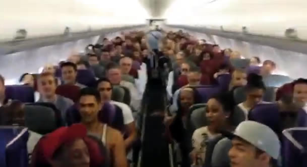 Is This The Best In-Flight Performance Ever? The Lion King Intro