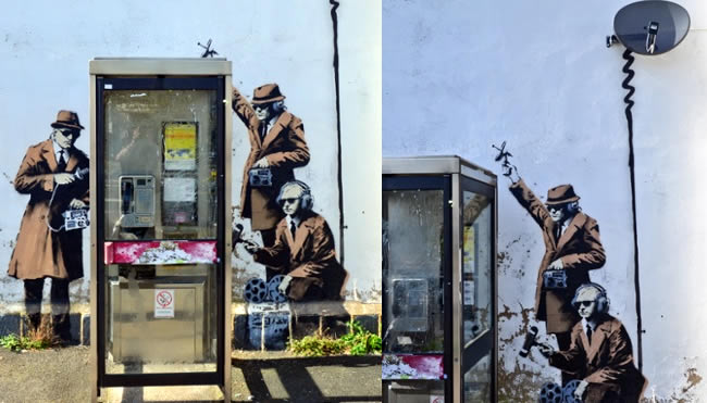 New Banksy Mural Appears In Cheltenham Near The GCHQ