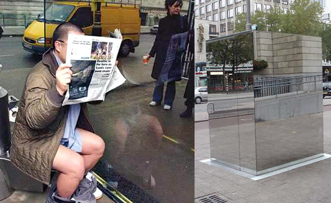The Public Bathroom Made Of 1-Way Mirrors