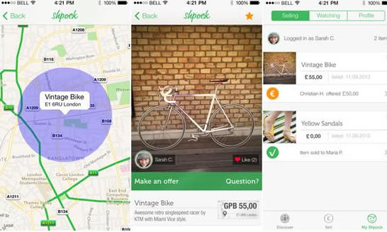 "Shpock. The ""Shop in your pocket"" app is about to launch in the UK"