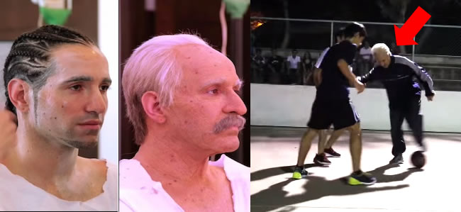 Fake Grandpa Joins Football Match And Owns Everyone