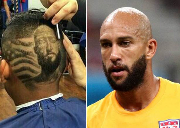 Fan Gets Tim Howard‭'‬s Face Shaved onto His Head‭