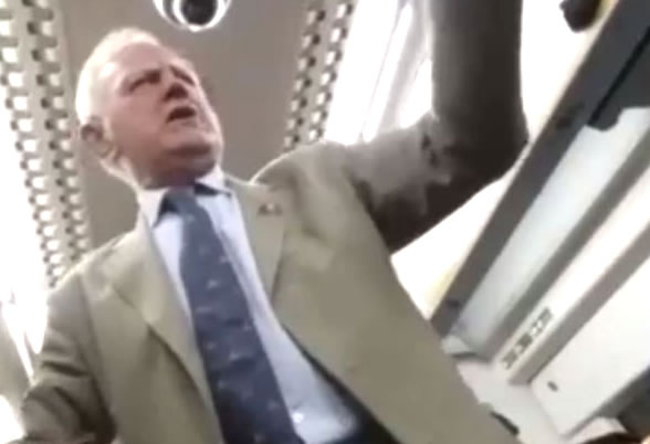 Drunk Pensioner Sings On Train – Everyone Loves It