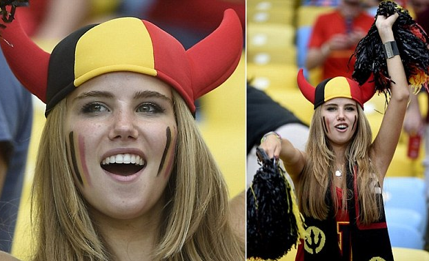 Belgian Teenager lands L'Oreal Contract after Being Photographed at World Cup Game
