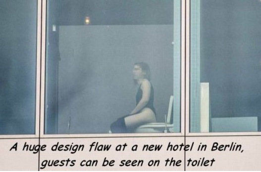 Design Flaw Exposes Guests Using Toilets To Public