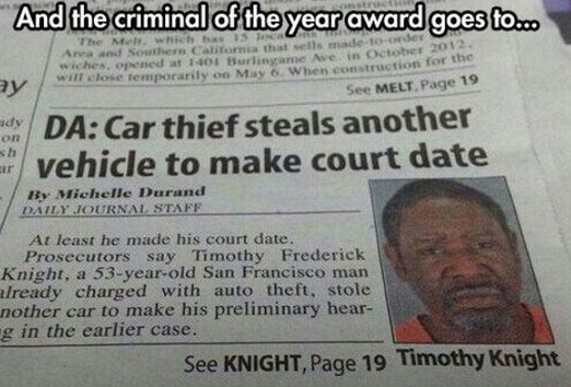 Thief Of The Year