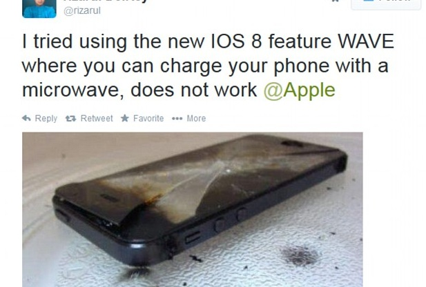 iPhone Users Fall For Convincing Microwave Hoax