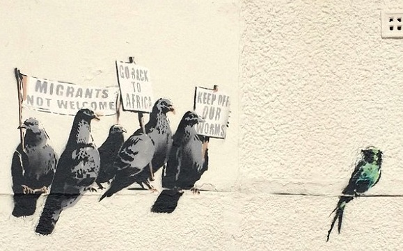 Latest Banksy Appears – Gets Scrubbed Off By Local Council