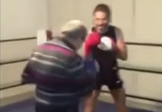 Video Of The Week: Old Guy Kicks Young Guy's Butt