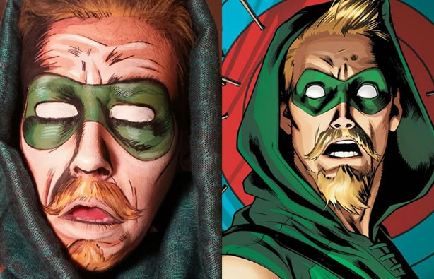 green-arrow-facepaint