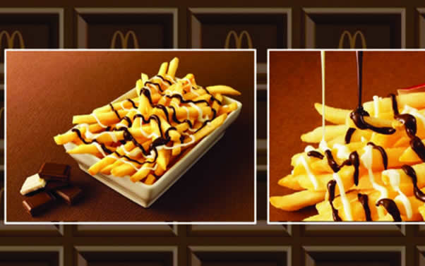 McDonald's launches chocolate-covered fries in Japan