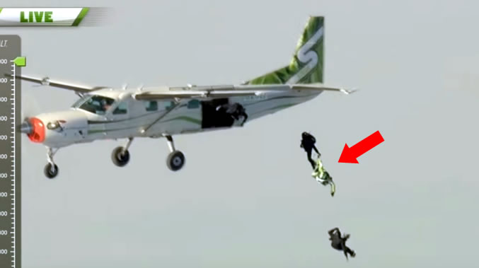 Daredevil jumps out of plane at 25,000 feet without a parachute