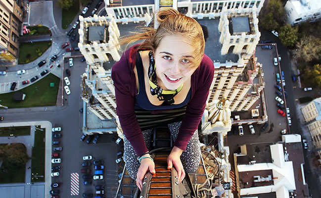 Meet Angela Nikolau:  This Girl Takes The Riskiest Selfies Ever