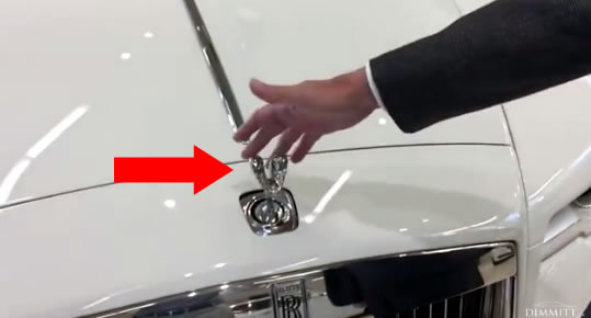 What happens when you try to steal a Rolls Royce Hood Ornament?