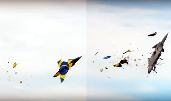 Gigantic Remote-Control Fighter Jet Explodes in Midair