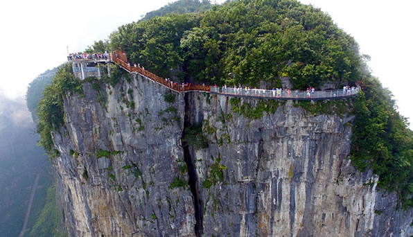China Opens Mile-High Glass Skywalk